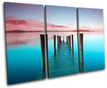 Ashness Pier Lake District Sunset Seascape - 13-0357(00B)-TR32-LO